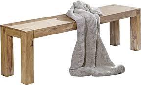 wohnling esszimmer sitzbank massiv holz akazie 180 x 45 x 35 cm design holz bank natur produkt küchenbank landhaus stil dunkel braun bank 4 sitzer für