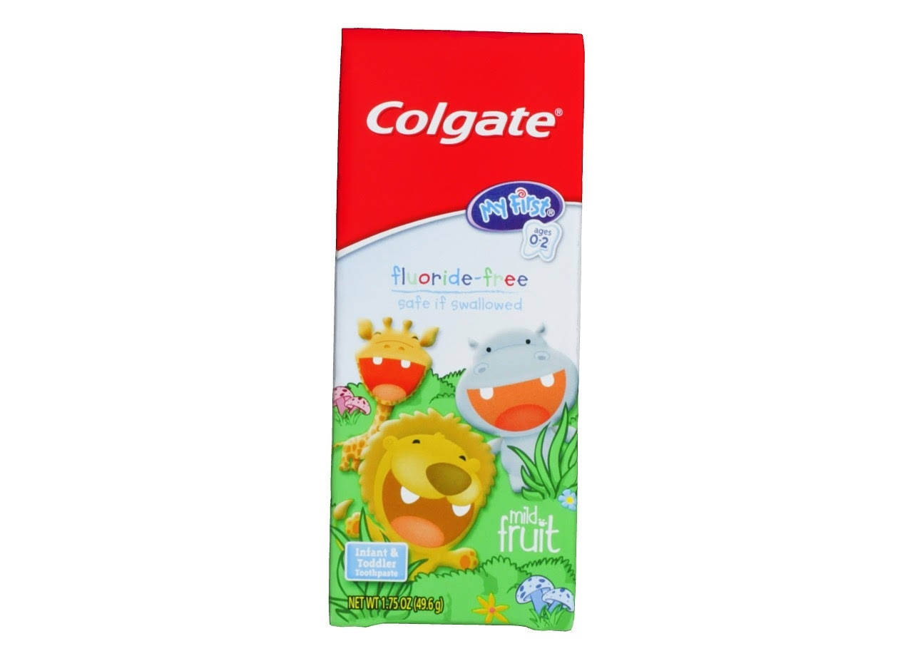 Colgate My First Infant & Toddler Toothpaste - Mild Fruit, Ages 0-2, 1.75oz