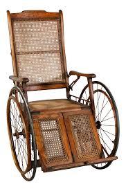 100 Rocking Chair Wheelchair Victorian Oak And Rattan Ish