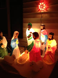 Halloween Blow Molds Ebay by Light Up Nativity Vintage Blow Molds Vintage Christmas