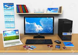 ordinateur de bureau compact travail de bureau avec ordinateur de bureau ordinateur portable
