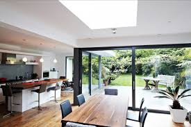 Kitchen Dining Room Extension Design Ideas Elegant House With Floor To Ceiling Glass And Beautiful Nature Views
