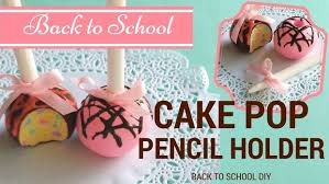 DIY CAKE POPS Pencil Holders Weird School Supplies Polymer Clay Tutorial