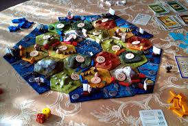 Custom 3D Settlers Of Catan Game Board With Ports And Fishery Frame Pieces The