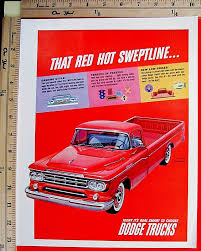 1959 DODGE TRUCKS Gorgeous Red Sweptline Pickup Truck Vtg Print Ad ... 1959 Dodge Sweptside Pickup T251 Kissimmee 2014 Trucks Advertising Art By Charles Wysocki 1960 Blog D100 Utiline T159 Monterey Hooniverse Truck Thursday Two Pickups Fargo Pickup Trucks Pinterest Famous 2018 15 That Changed The World For Sale Classiccarscom Cc972499 Viewing A Thread Sweptline American Lafrance Fire Youtube