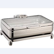 Full Size Hydraulic Induction Chafing Dish Yufeh With Glass Lid