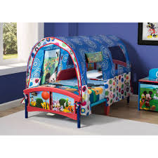 mickey mouse plastic toddler bed with tent walmart com