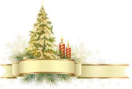 Large Transparent Gold And Green Christmas Tree With Ornaments PNG