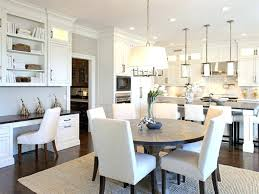 Transitional Dining Room Chandelier Inspired Expandable Round Table Vogue Dc Metro Inspiration
