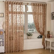 gardine blattmuster vorhang tuch teiler dekor transparenter