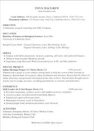 Current College Student Resume Examples For Jobs With Little Experience