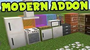 MCPE ADDON MODERN Furniture Decorations ADDON and BEHAVIOR PACK