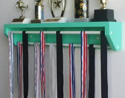 Shelf Wonderful Medal Trophy And Personalized Medals Display Holder Hanger Unbelievable Uniform Entertain