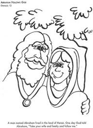 BIBLE COLORING PAGES Abraham Follows God