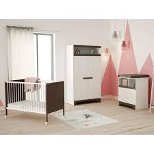 cdiscount chambre bébé chambre bébé complète 3 pièces taupe lit 60x120 cm armoire