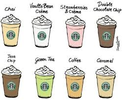 Caramel Chai Coffee Double Chocolate Chip Frappuccino Fraps