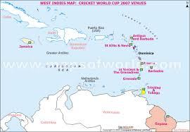 West Indies Cricket World Cup 2007 Venues Map