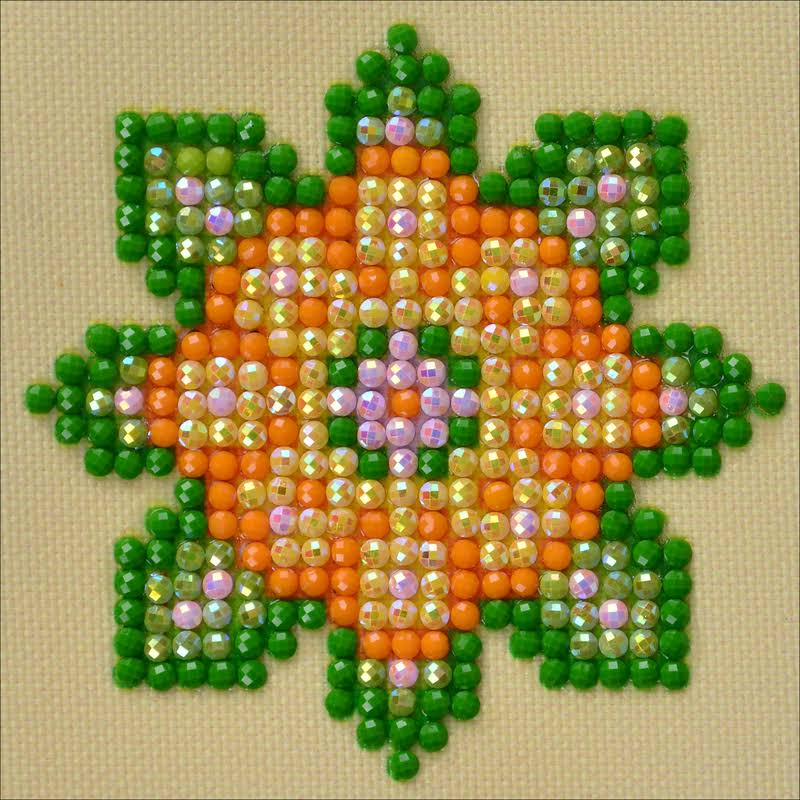 "Diamond Dotz Diamond Embroidery Flower Mandala 1 Facet Art Kit - 4.75""x4.75"""