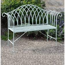 Fairford Scrolled Metal Garden Bench The Garden Factory