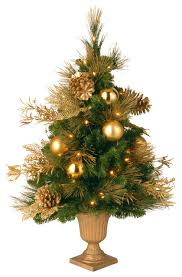 Christmas Decorations Trees 3 Decorative Collection Elegance Entrance Tree With Clear Lights