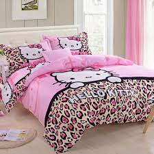 Nice Hello Kitty Bedroom Decor And Pink Curtains With Wood Laminate Floor