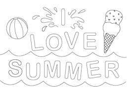 Love Summer 2014 Coloring Sheets For Kids And Preschoolers 300x229