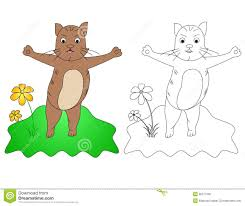 Download C For Cat Stock Vector Illustration Of Color Animals
