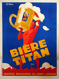 Creative Classic French Posters And Incredible Ideas Of Biere Titan Vintage Beer Poster MUSEUM OUTLETS 2