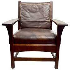 Stickley Furniture Leather Recliner by L U0026jg Stickley Mission Reclining Morris Chair For Sale At 1stdibs