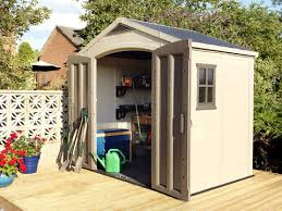 keter factor 8 x 6 resin storage shed all weather plastic
