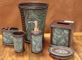 Cheap Camo Bathroom Sets by Rnd Western Post U003e Tooled Rustic Bathroom Accessories Wildlife