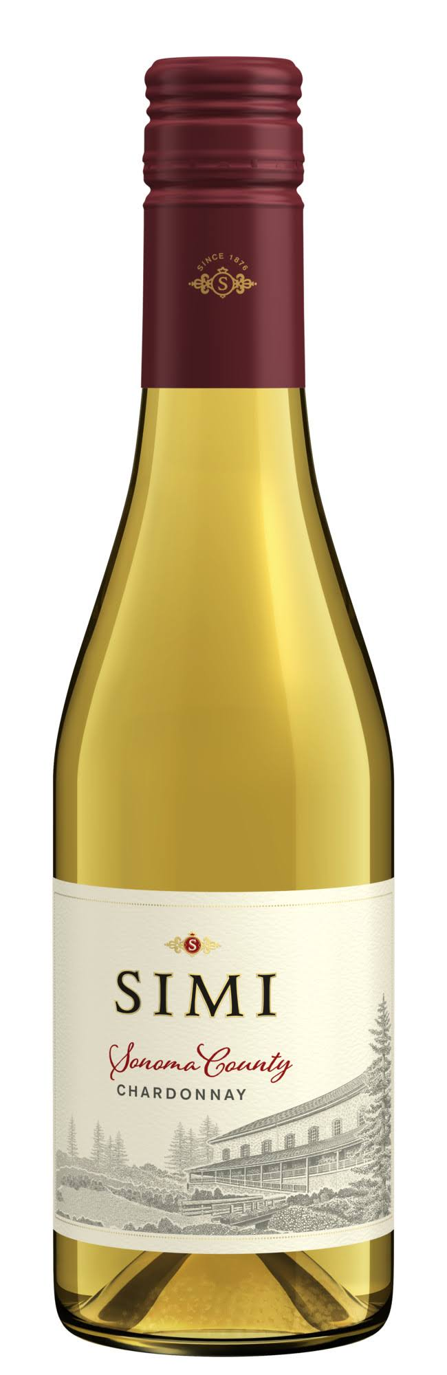 Simi Sonoma County Chardonnay, White Wine, 375 ml Bottle