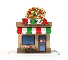 Pizzeria On A White Background 3d Rendering