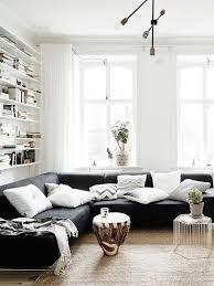 wohnzimmer design ideen schwarzes sofa alle dekoration