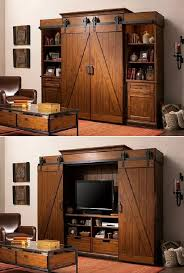 Entertainment Center With Barn Doors 3