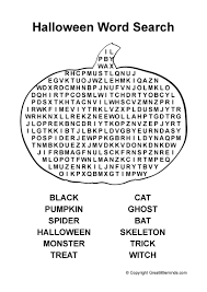 Halloween Word Search PDF Picture Pinterest With Easy Printable