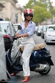 Woman On A Vespa Milan