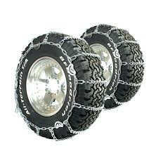 Titan Truck Link Tire Chains CAM Type On Road Snow/Ice 7mm 11-24.5 ...