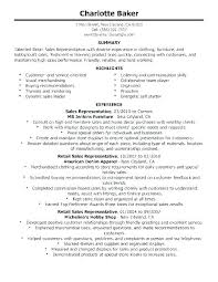 Resume Example For A Retail Job Plus Good Examples Jobs Samples Template Sample Create