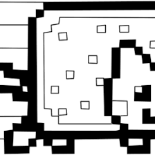 Printable Nyan Cat Coloring Pages Google Twit