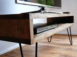 Diy Tv Stand Vintage Retro Box W Metal Hairpin Legs Solid Wood Rustic Unit Table