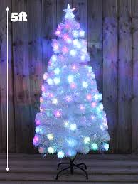 Fiber Optic Christmas Tree Philippines by White Rainbow Pre Lit Christmas Tree Fibre Optic Xmas Led