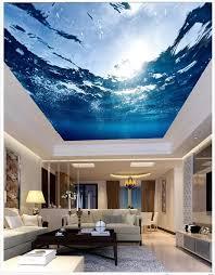 custom 3d wallpaper 3d ceiling wallpaper murals living room the undersea world ceiling frescoes ceiling murals 3d home decker