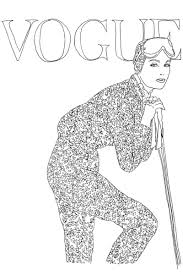 Book Vogue Colouring 8