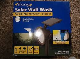 malibu solar led wall wash landscape light 54 lumens