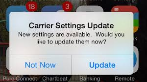 Why is my iPhone asking if it can update carrier settings