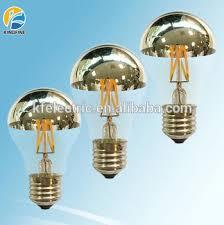 wholesale filament led a60 edison l e27 led mirror bulb half