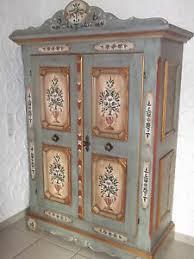 original voglauer bauernschrank anno 1700 altblau handbemalt