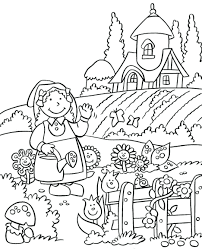 Coloring Pages Garden Free Flower For Adults Printable Sheet