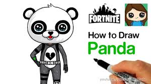 How To Draw Panda Team Leader Easy